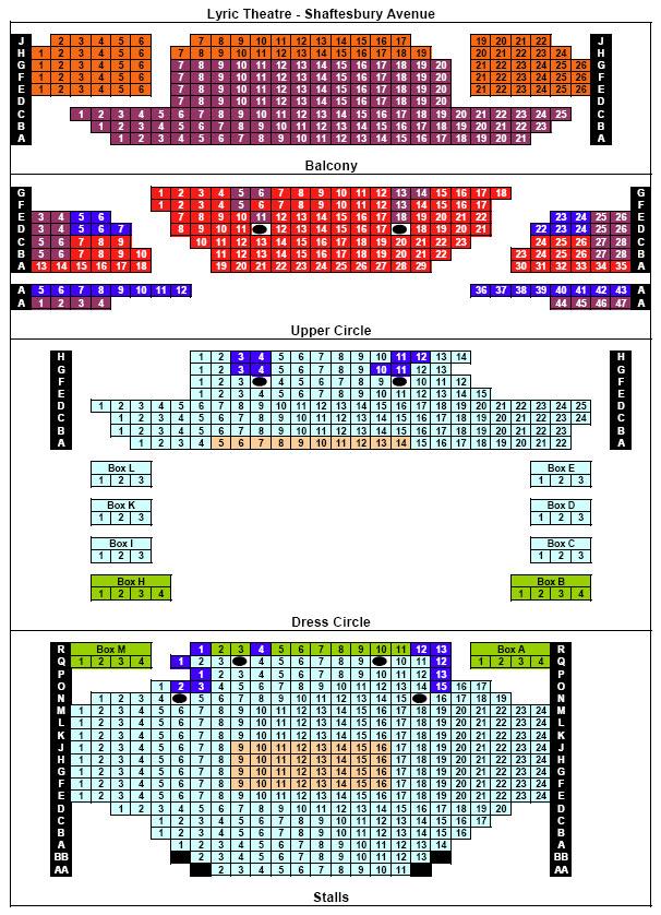 Lyric lyric theatre london : Lyric Theatre london | Lyric Theatre seating plan for Thriller Live